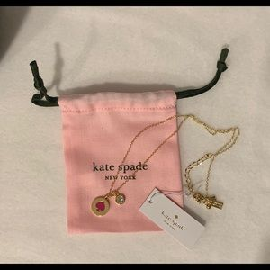 kate spade NEW YORK Red Spot the Spade Necklace